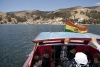 Going from Tiquina direction Copacabana in the Titicaca sea. Touristical detour because of the earlier ending of stage I